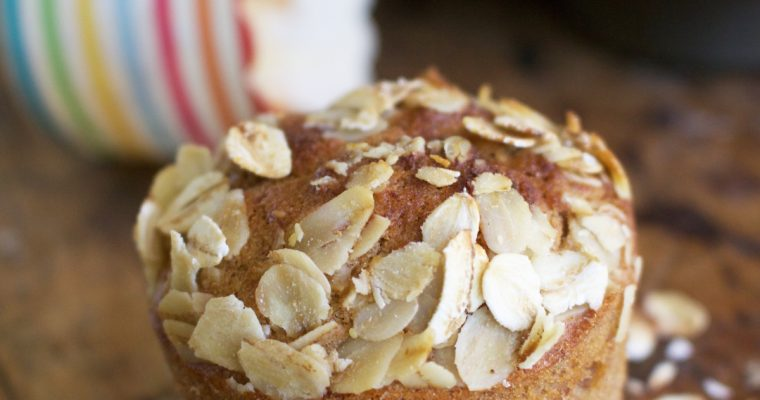 Banana and Oat Crusted Muffins