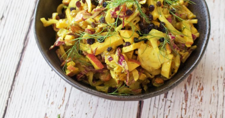 Fennel, Apple and Red Cabbage Slaw